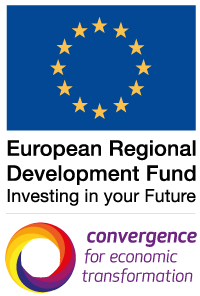 European Regional Develpment Fund | Convergence for Economic Transformation logo